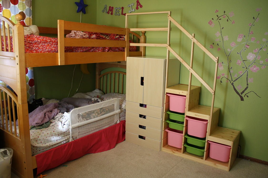 Vintage Easy Full Height Bunk Bed Stairs