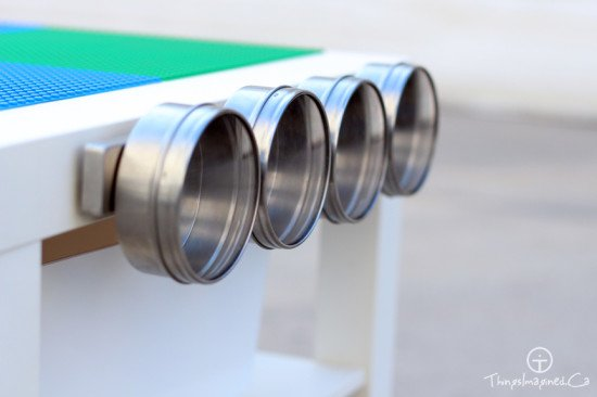 Lego table with Magnetic strip