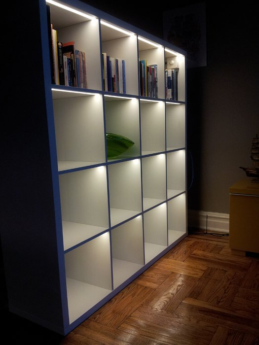 ikea shelf lighting. Light Up The KALLAX! Ikea Shelf Lighting A