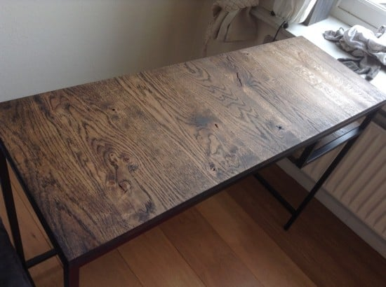 Vittsjo laptop table with reclaimed french oak 3