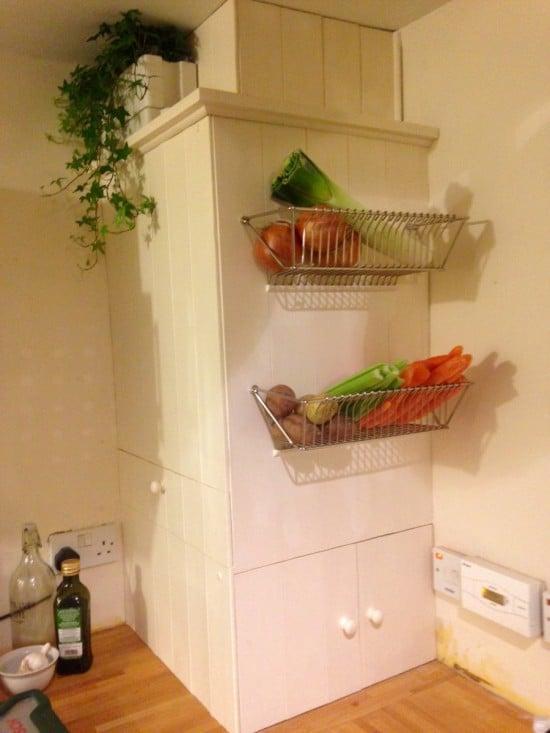 IKEA FINTORP wall fruit basket