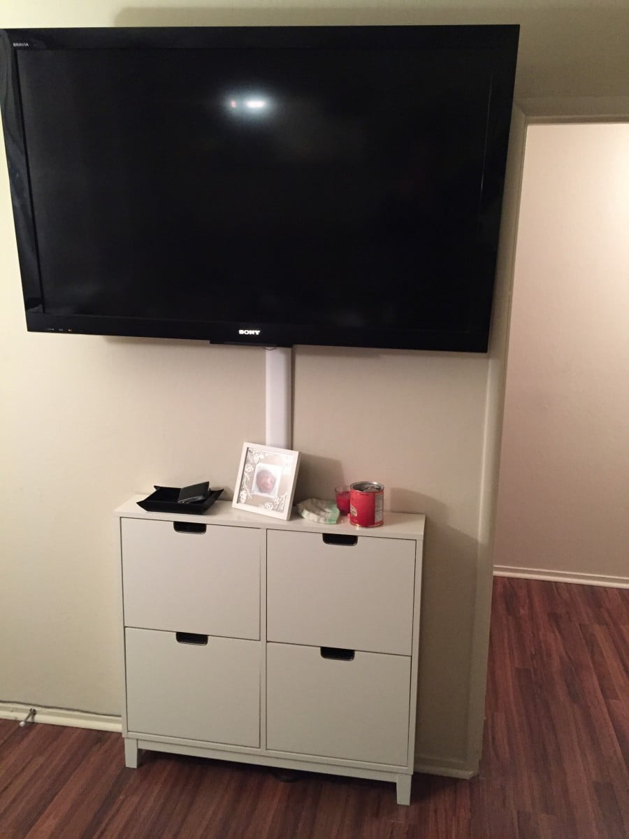 The stall ultra slim entertainment center ikea hackers for Entertainment cabinets ikea