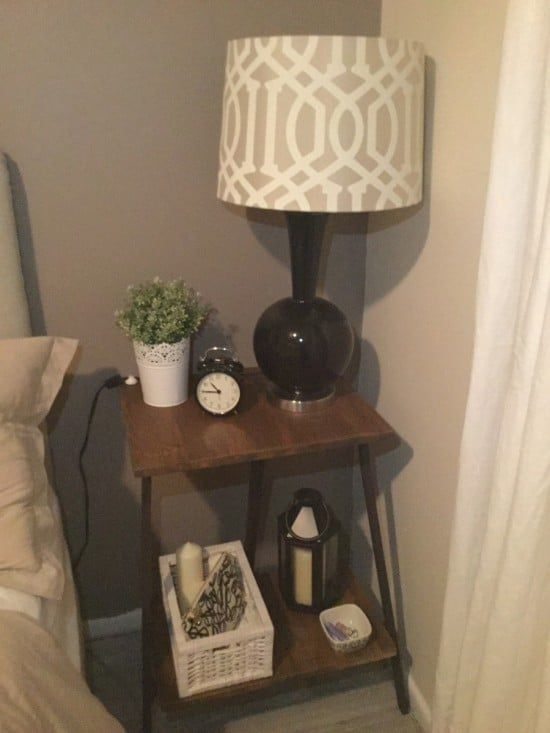 IKEA LERBERG trestle nightstands