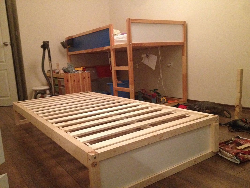 Ikea Kura Double Bunk Bed Extra Hidden Bed Sleeps 3