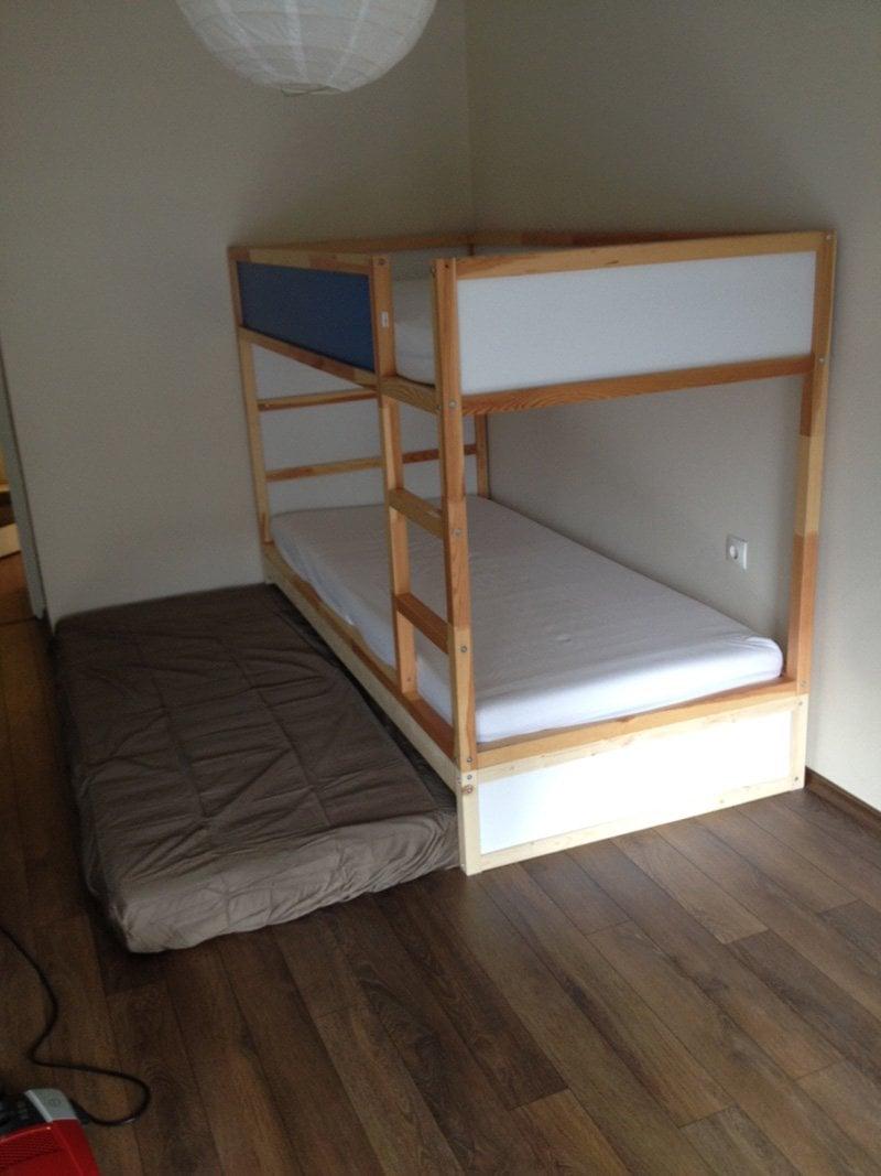 Ikea Kura Double Bunk Bed Extra Hidden Bed Sleeps 3 Ikea Hackers