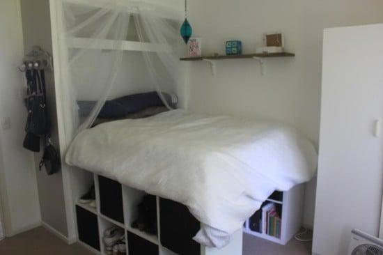 Raised Bed Inside Built In Wardrobe Ikea Hackers Ikea