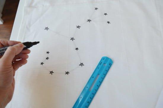 Stencilled Constellation Curtains