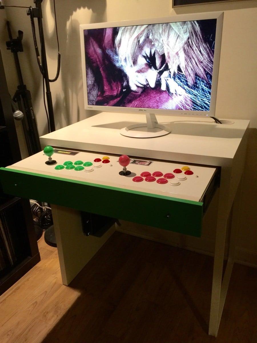 Micke Computer Desk Arcade Stick Hack Ikea Hackers