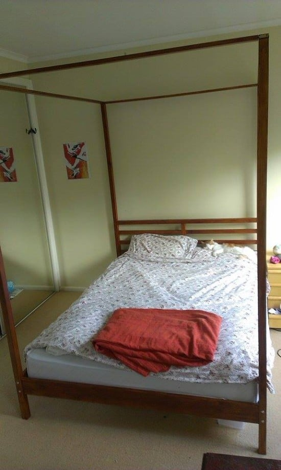 ikea four poster bed