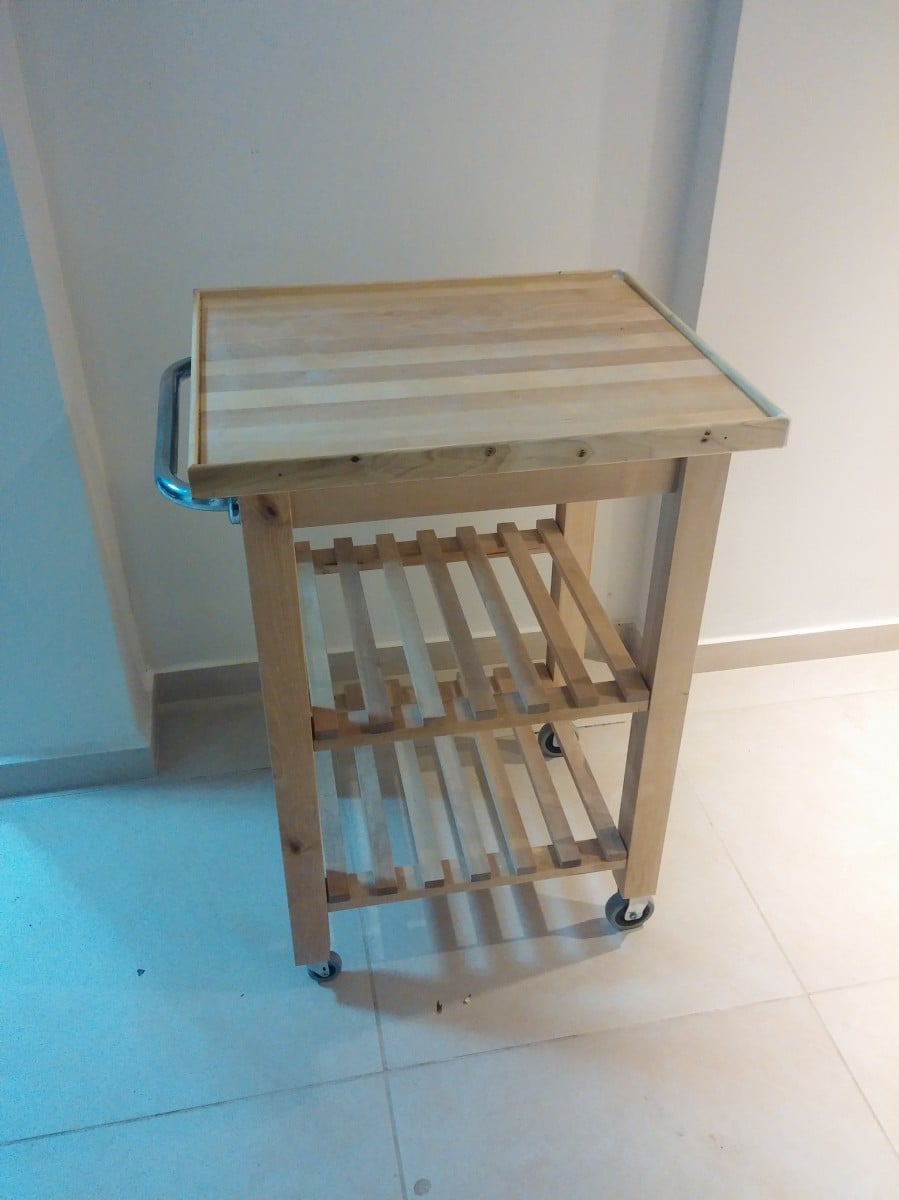 Bekv m kitchen cart improvement ikea hackers ikea hackers for Bekvam kitchen cart