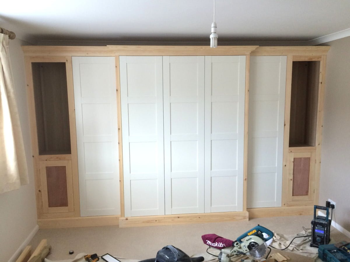 PAX traditional fitted wardrobe hack - IKEA Hackers