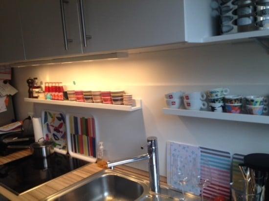 Kitchen splashback from IKEA TANEM door