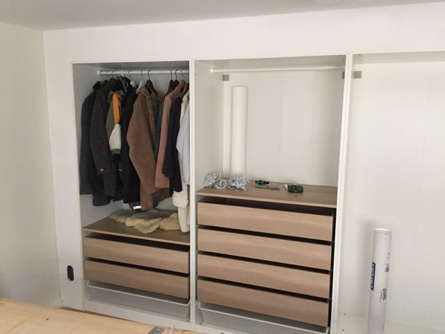 Built In Pax Using Dry Wall Technique Ikea Hackers