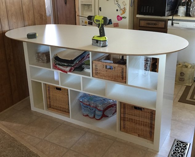 Sl 228 Hult Table Top Expedit Shelf Unit Oval Kitchen