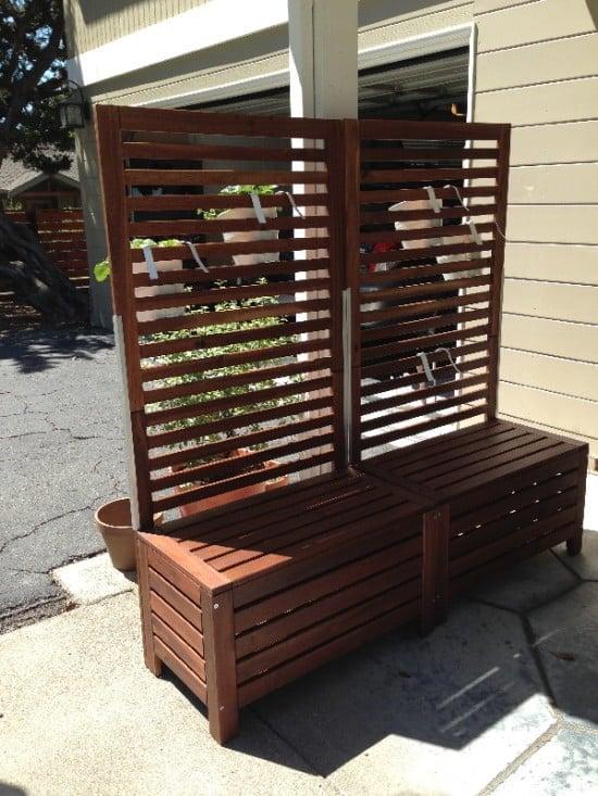 ÄPPLARÖ free-standing trellis with bench seat hack