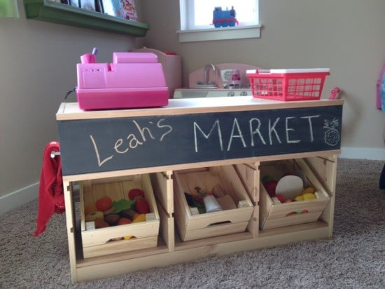 IKEA TROFAST Hacked Into Kids Market Stand