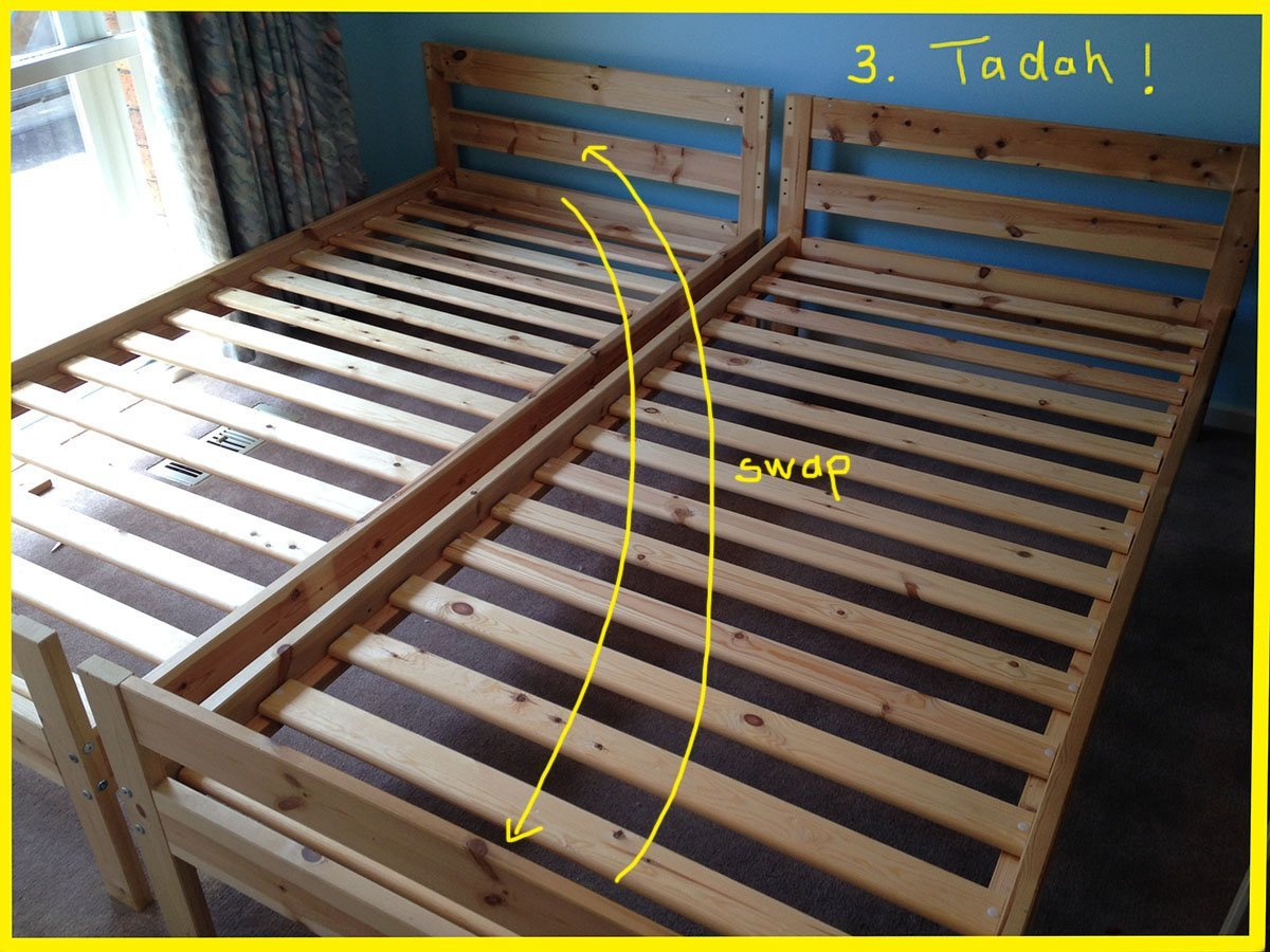 mydal bunk bed to single beds ikea hackers ikea hackers
