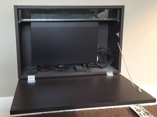 Tv Box Box Wall Hugging Tv Equipment Cabinet Ikea Hackers