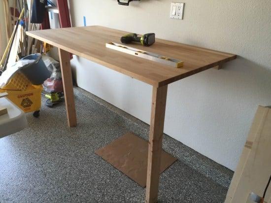 IKEA gerton drop down work bench