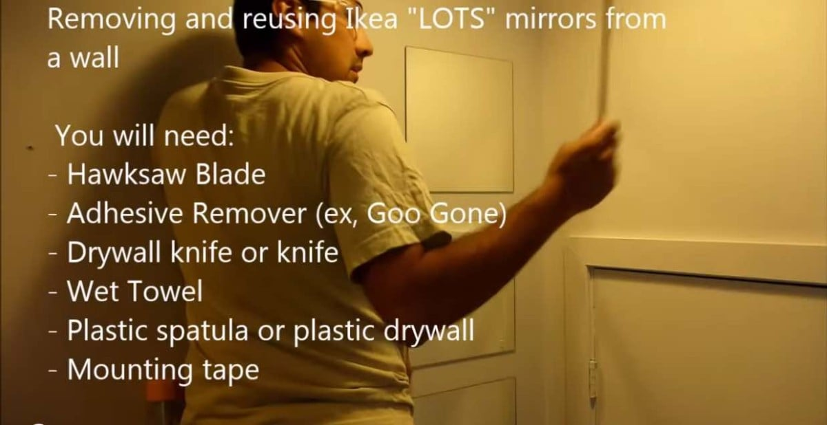 How to  Remove and Reuse IKEA LOTS Mirrors. How to  Remove and Reuse IKEA LOTS Mirrors   IKEA Hackers