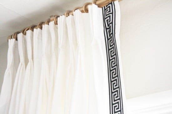 IKEA pinch pleat curtains