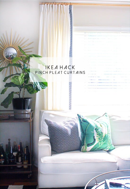 IKEA pinch pleat curtains