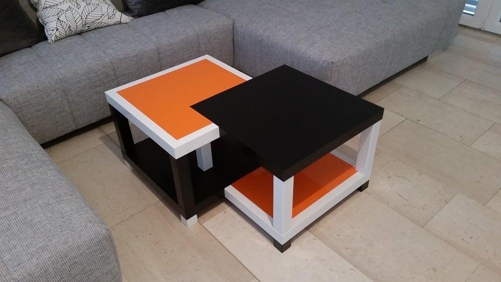 Evolution of quad lack coffee table ikea hackers ikea for Table basse ikea lack
