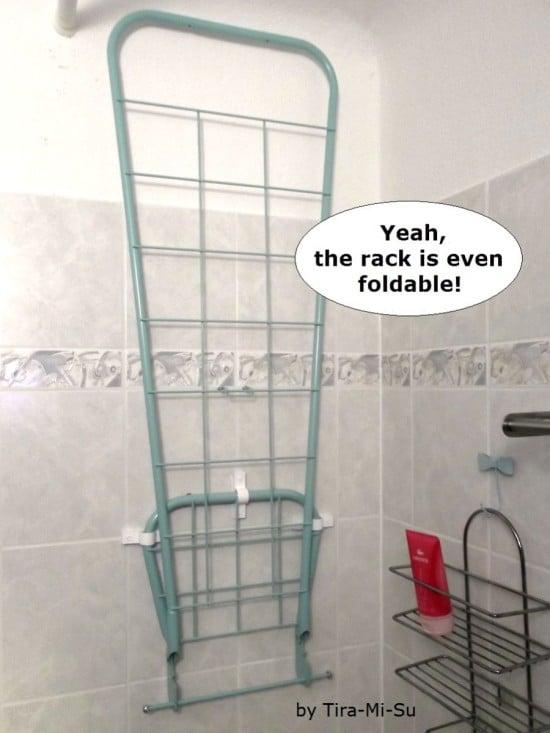 2) IKEA Hack DUNSÖN foldable drying rack - Karre Spalier in hellgrün od. pastelltürkis als Wäscheständer
