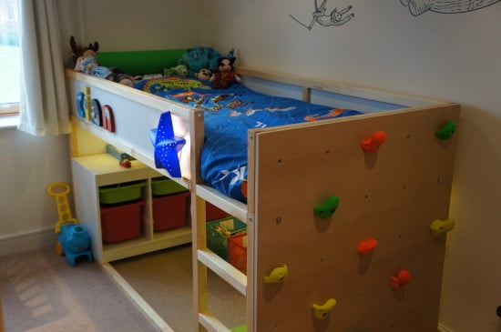 Kids Bed Climbing Wall