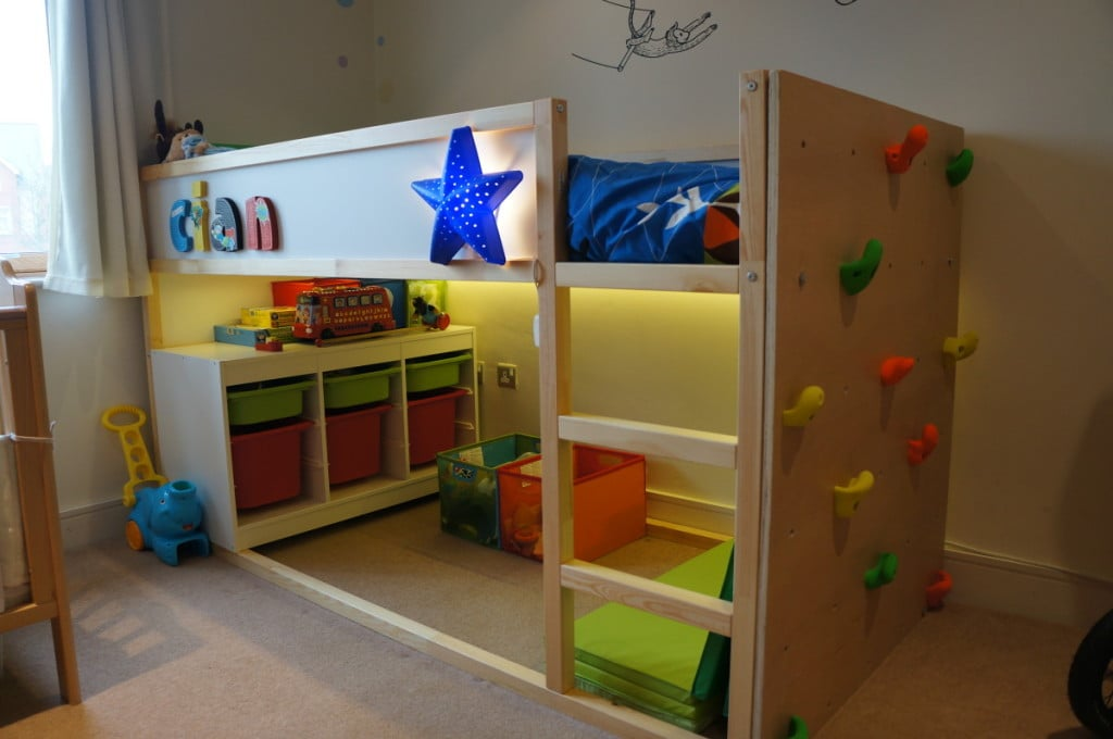 ikea kids bed with trofast toy storage
