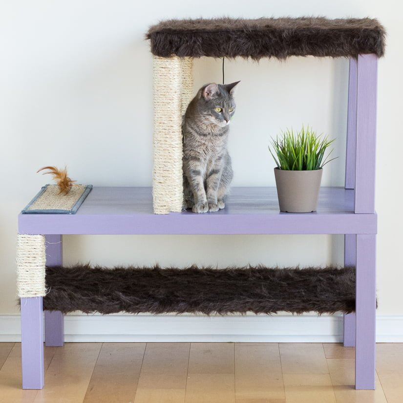 make a homemade cat condo using lack tables ikea hackers. Black Bedroom Furniture Sets. Home Design Ideas