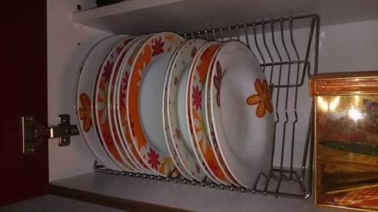 Plate organizer: It's easier in and out the kitchen cupboard ...