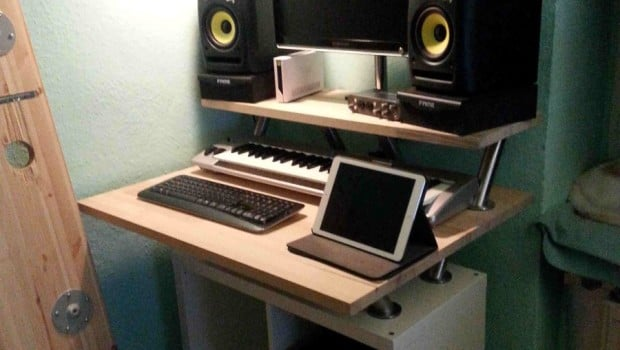 A Nice Kallax Audio Standing Table For A Small Space