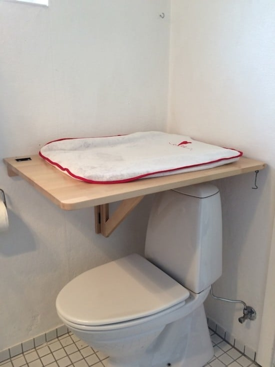 diaper changing table for small bathrooms