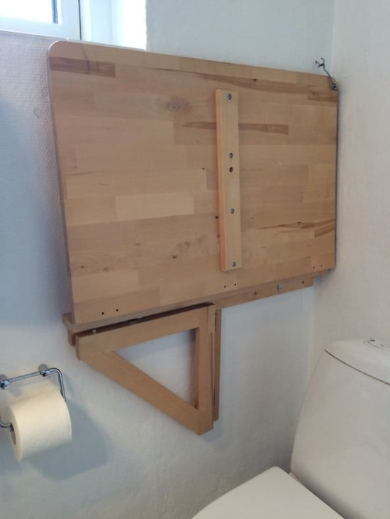 diaper changing solutions for small bathrooms