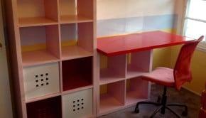 Rebecca IKEA hacked desk