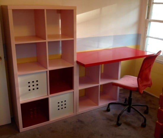 kallax kids desk ikea hackers ikea hackers. Black Bedroom Furniture Sets. Home Design Ideas