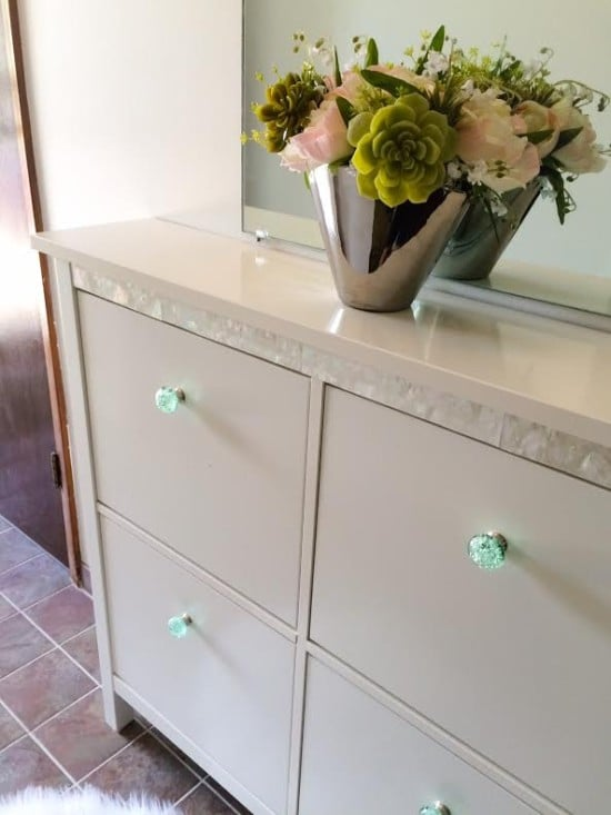 classy makeover for hemnes shoe cabinet