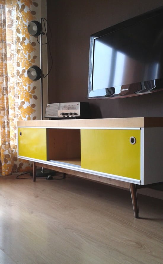 Old IKEA LACK TV Furniture Hacked Into Vintage Style Hackers
