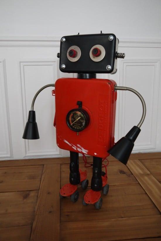 sculpture robot gille monte ruici