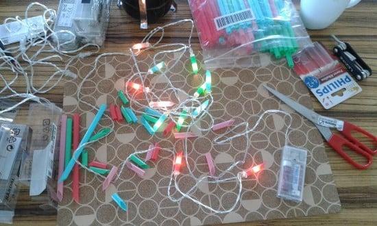 DIY summer party lights