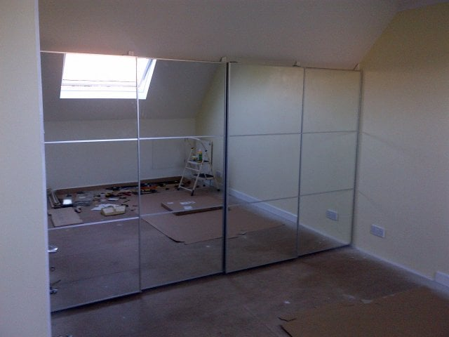Pax With Sliding Doors Under Eaves