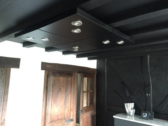 LACK table as kitchen ceiling lighting