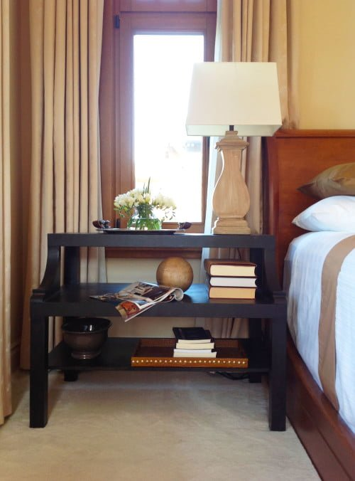 IKEA LACK hack coffee table to the perfect bedside table