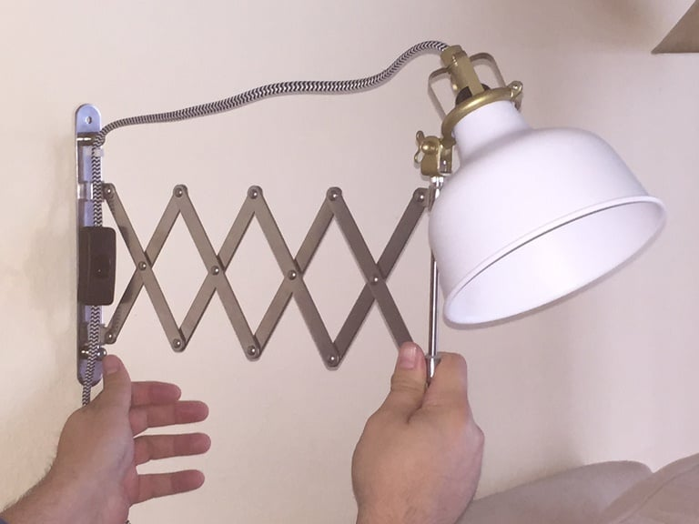 Industrial style bedside lamp