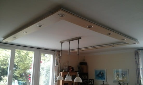 ceiling lamp over dining table