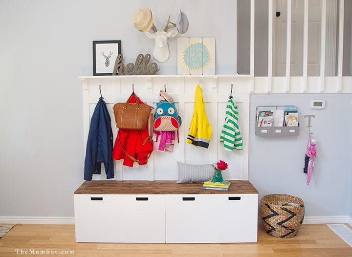diy mudroom using ikea stuva benches ikea hackers ikea hackers