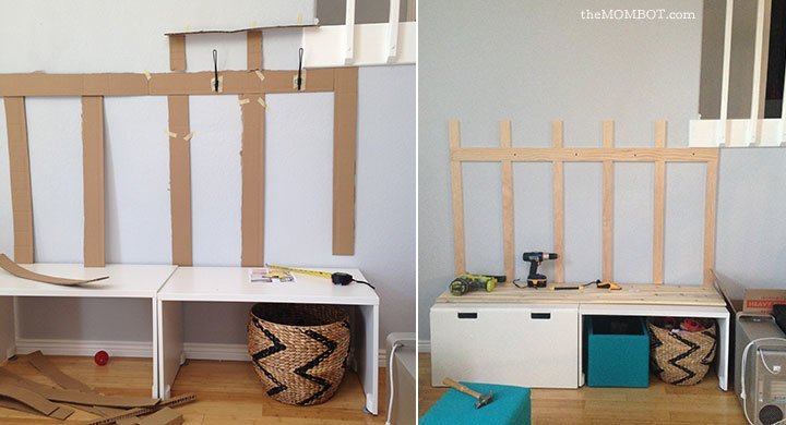Mudroom Ideas Using Ikea Furniture ~ DIY mudroom using IKEA STUVA benches  IKEA Hackers  IKEA Hackers