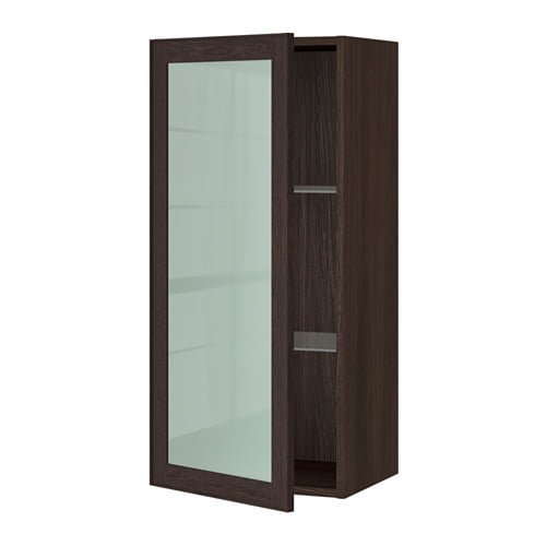 Ikea Sektion Cabinets With Gl Door Brown 0297448 Pe505964 S4