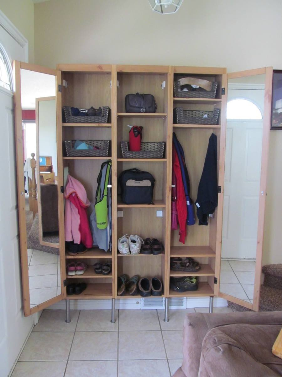 ikea silveran entryway lockers for slim landing space ikea hackers